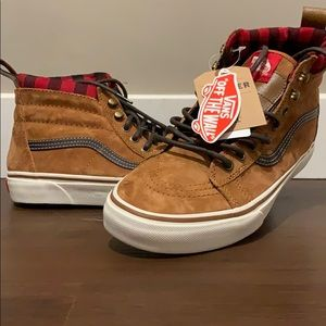 Vans old school flannel high tops